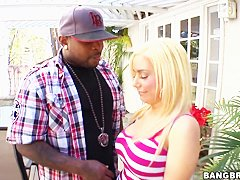 busty blonde Mariah Madysinn hot interracial sex