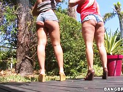 Angel Vain and Nicole Aniston tease with big asses
