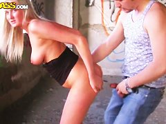 Outdoor amateur porn video by teen prostitute Inga