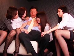 Japanese Penis Shared by Group of Horny Women 2