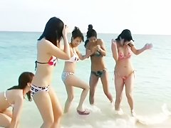 Six Beautiful Japanese Girls Beach Orgy (Uncensored)