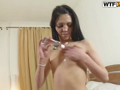 Young horny babe Lerok makes sexual massage