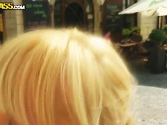 Kinky Bella Baby doing naughty things in public places