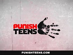 PunishTeens - Ebony Teen Tied, Punished And Fucked In The Forest